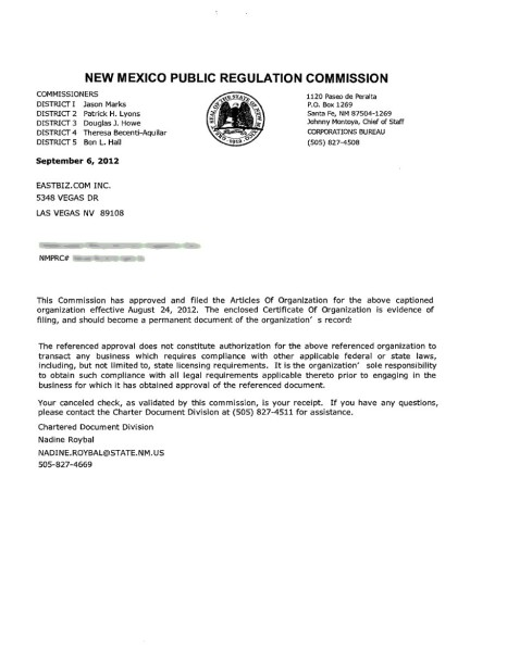 Commission confirmation
